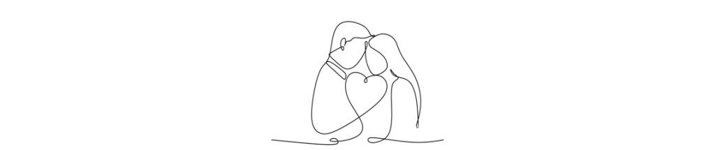 Couple amoureux Hug Day Saint Valentin